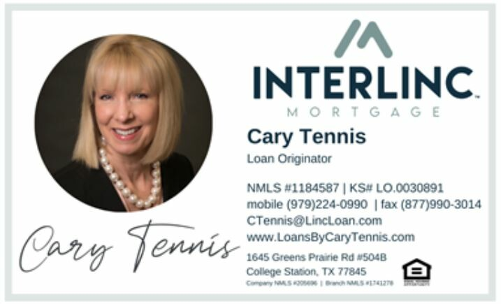 Cary Tennis Business Card Photo